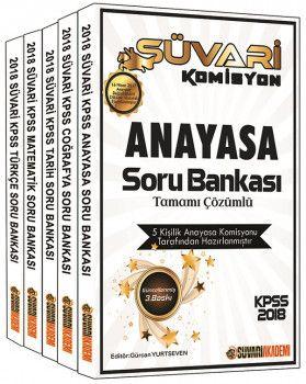 Süvari Akademi 2018 KPSS Süvari Komisyon Genel Yetenek Genel Kültür Tamamı Çözümlü Soru Bankası Seti