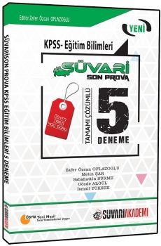 Süvari Akademi KPSS Eğitim Bilimleri Son Prova Tamamı Çözümlü 5 Deneme Sınavı