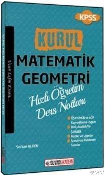 Süvari Akademi Yayınları 2018 KPSS Kurul Matematik Geometri Hızlı Öğretim Ders Notları