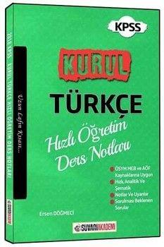 Süvari Akademi Yayınları KPSS Kurul Türkçe Hızlı Öğretim Ders Notları