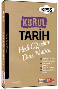 Süvari Akademi Yayınları KPSS Kurul Tarih Hızlı Öğretim Ders Notları