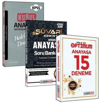 Süvari Akademi Yayınları 2018 KPSS Anayasa 3 lü Set