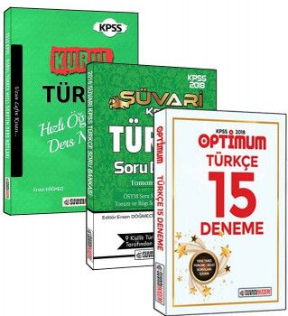 Süvari Akademi Yayınları 2018 KPSS Türkçe3 lü Set