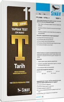 Sınav Yayınları 11. Sınıf Tarih Çek Kopar Yaprak Test