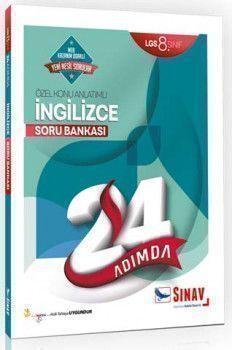 Sınav Yayınları 8. Sınıf LGS İngilizce 24 Adımda Özel Konu Anlatımlı Soru Bankası