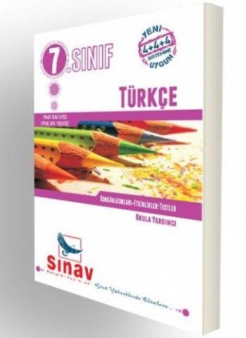 Sınav Yayınları 7. Sınıf Türkçe Konu Anlatımları Etkinlikler Testler