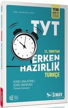 Sınav Yayınları 11. Sınıf TYT Türkçe Erken Hazırlık Konu Anlatımlı Soru Bankası