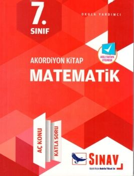 Sınav Yayınları 7. Sınıf Matematik Akordiyon Kitap