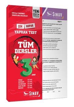 Sınav Yayınları 3. Sınıf Tüm Dersler Yaprak Test