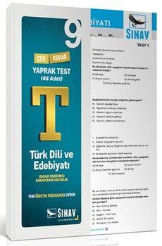 Sınav Yayınları 9. Sınıf Türk Dili ve Edebiyatı Yaprak Test
