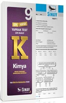 Sınav Yayınları 9. Sınıf Kimya Yaprak Test