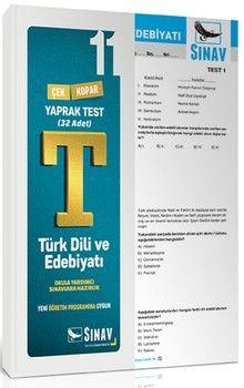 Sınav Yayınları 11. Sınıf Türk Dili ve Edebiyatı Yaprak Test