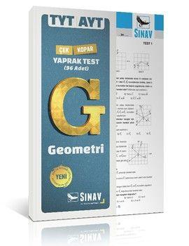 Sınav Yayınları TYT AYT Geometri Çek Kopart Yaprak Test
