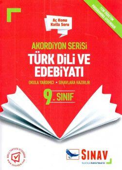 Sınav Yayınları 9. Sınıf Türk Dili ve Edebiyatı Akordiyon Aç Konu Katla Soru