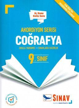 Sınav Yayınları 9. Sınıf Coğrafya Akordiyon Aç Konu Katla Soru