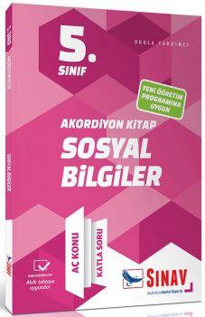 Sınav Yayınları 5. Sınıf Sosyal Bilgiler Akordiyon Kitap Aç Konu Katla Soru