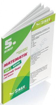Sınav Yayınları 5. Sınıf Matematik Çek Kopar Yaprak Test