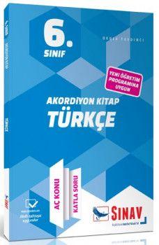 Sınav Yayınları 6. Sınıf Türkçe Akordiyon KitapAç Konu Katla Soru