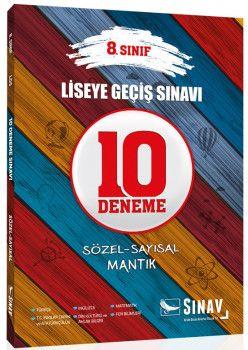 Sınav Yayınları 8. Sınıf LGS Sözel Sayısal Mantık 10 Deneme Sınavı
