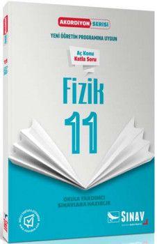 Sınav Yayınları 11. Sınıf Fizik Akordiyon Kitap