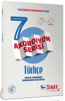 Sınav Yayınları 7. Sınıf Türkçe Akordiyon Kitap
