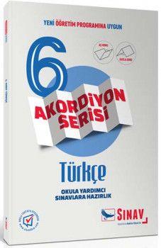 Sınav Yayınları 6. Sınıf Türkçe Akordiyon Kitap