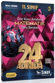 Sınav Yayınları 11. Sınıf Matematik 24 Adımda Özel Konu Anlatımlı Soru Bankası