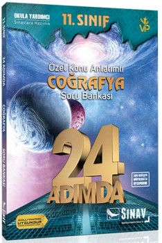 Sınav Yayınları 11. Sınıf Coğrafya 24 Adımda Özel Konu Anlatımlı Soru Bankası