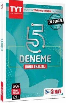 Sınav Yayınları TYT 5 Deneme Kitabı Konu Analizli