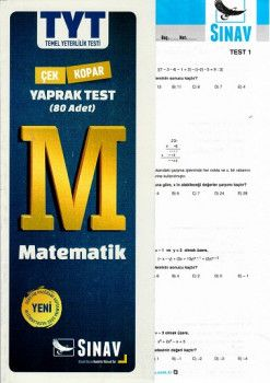 Sınav Yayınları TYT Matematik Çek Kopart Yaprak Test