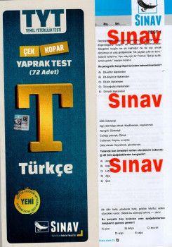 Sınav Yayınları TYT Türkçe Çek Kopart Yaprak Test