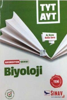Sınav Yayınları TYT AYT Biyoloji Aç Konu Katla Soru Akordiyon Serisi