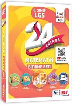 Sınav Yayınları 24 Adımda 8. Sınıf LGS Matematik Bitirme Seti