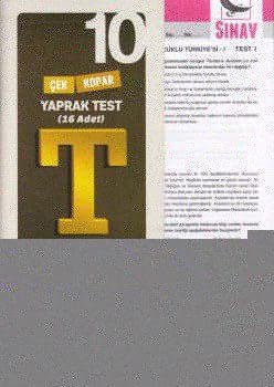 Sınav Yayınları 10. Sınıf Tarih Çek Kopar Yaprak Test