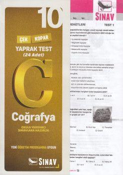 Sınav Yayınları 10. Sınıf Coğrafya Çek Kopar Yaprak Test