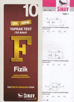 Sınav Yayınları 10. Sınıf Fizik Çek Kopar Yaprak Test