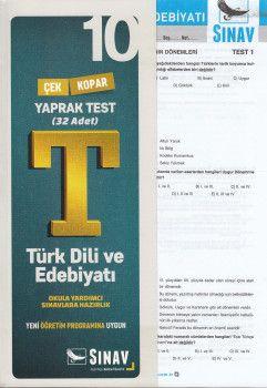 Sınav Yayınları 10. Sınıf Türk Dili ve Êdebiyatı Çek Kopar Yaprak Test