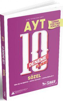 Sınav Yayınları AYT Sözel 10 Deneme Seti