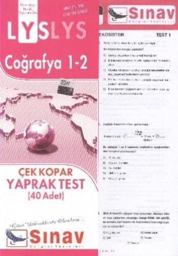 Sınav Yayınları LYS Coğrafya 1 2 Yaprak Test