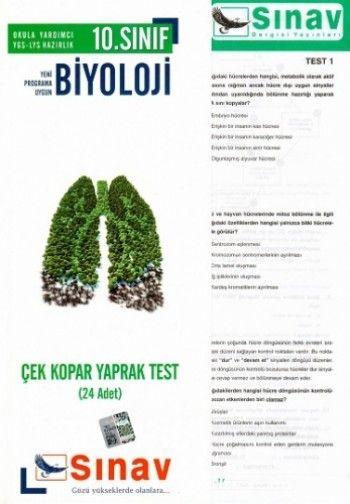 Sınav Yayınları 10. Sınıf Biyoloji Çek Kopar Yaprak Test