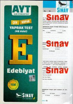 Sınav Yayınları AYT Edebiyat Yaprak Test