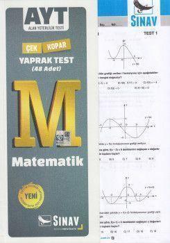 Sınav Yayınları AYT Matematik Çek Kopar Yaprak Test