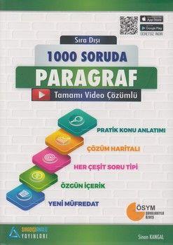 Sıradışıanaliz Yayınları 1000 soruda Paragraf Konu Anlatımlı Soru Bankası