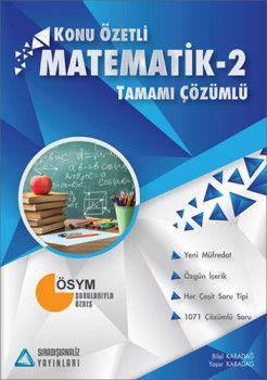 Sıradışıanaliz Yayınları Matematik 2 Konu Özetli Tamamı Çözümlü Soru Bankası