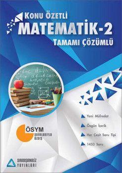 Sıradışıanaliz Yayınları AYT Matematik 2 Tamamı Çözümlü Konu Özetli