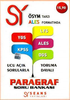 Seans Yayınları ÖSYM Tarzı ALES Formatında YGS LYS KPSS DGS ALES Paragraf Soru Bankası