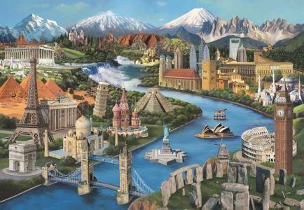 Simge Yerler Popular Landmarks 2000 Parça Yapboz