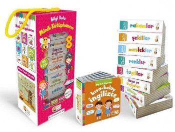 Sincap Kitap Okul Öncesi İçin Bilgi Dolu Minik Kütüphanem Pembe kutu