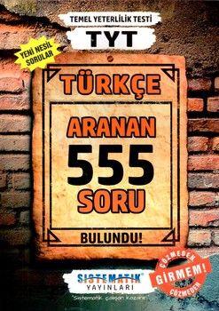 Sistematik Yayınları TYT Türkçe 555 Aranan Soru