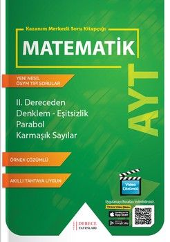 Sonuç Derece Yayınları AYT II.Dereceden Denklem Eşitsizlik Parabol Karmaşık Sayılar